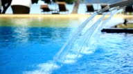 Fountain and swimming pool video