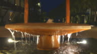 Fountain at night video