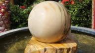 Fountain ball in the garden. video