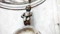 Fountain figure of Manneken Pis in Brussels video