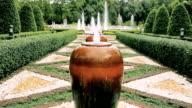 Fountain Garden On Dark Day video