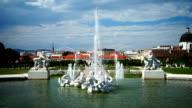 Fountain in Belvedere Garden, Vienna video