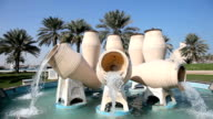 Fountain in Doha, Qatar video