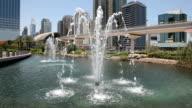 Fountain in the city of Dubai video