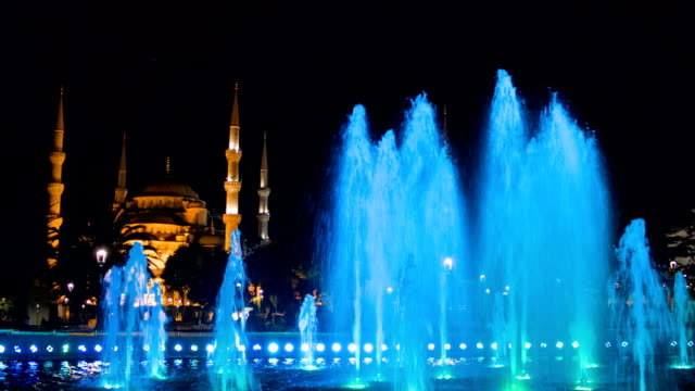 Fountain in the Sultanahmet park video