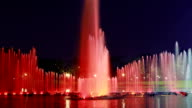 Fountain in twilight time lapse video