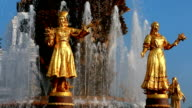 Fountain of Friendship of people, Moscow, Russian Federation. video