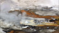 Fountain Paint Pot Geyser  - Aerial View - Wyoming,  Teton County,  helicopter filming,  aerial video,  cineflex,  establishing shot,  United States video