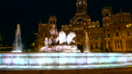 Fountain Plaza de la Cibeles in Madrid video