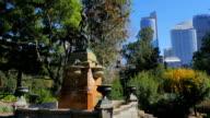 Fountain, Royal Botanic Gardens, Sydney (4K/UHD to HD) video