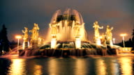 Fountain Stone Flower on on VDNH in Moscow, Russia . Time-lapse video