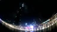 fountain water show at Burj Khalifa in Dubai video