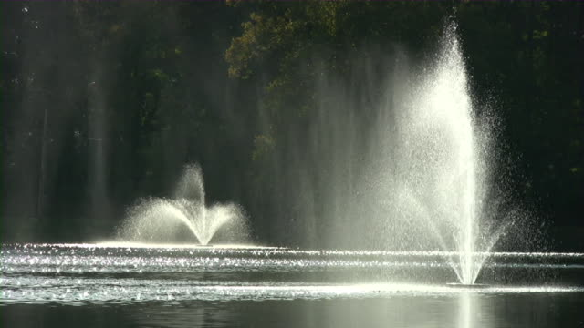 Fountains On A Lake video