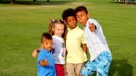 Four nice kids. video