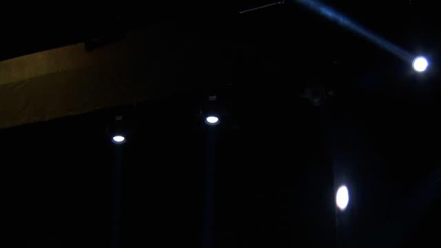 Four Spotlights Moves in the Dark video