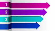 Four square arrow bar, intro title box chart video
