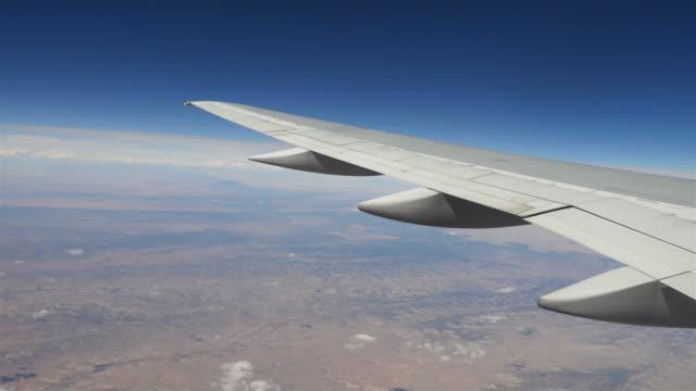 Fourteen videos of airplane wings in 4K video