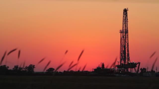 Fracking At Dusk video
