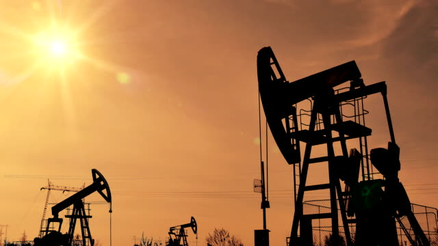 Fracking Oil Well Silhouettes video