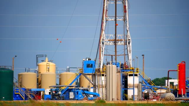 Fracking Oklahoma Closeup video