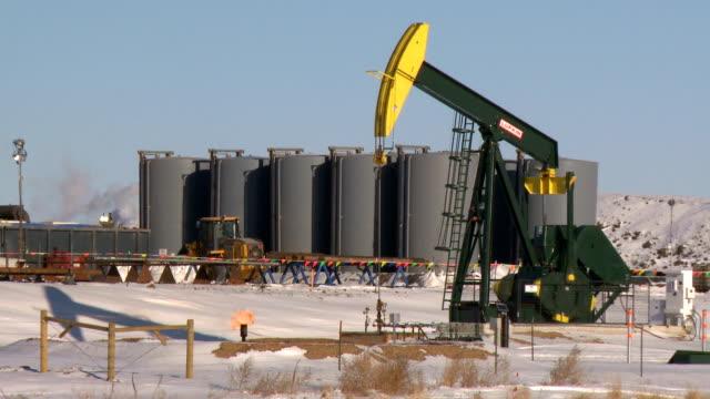 fracking pumpjacks video