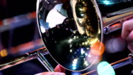 Fragment jazz trumpet closeup video