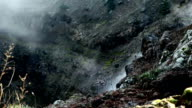 A fragment of the smoking crater of the volcano video