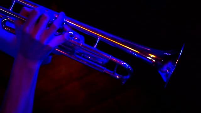 Fragment trumpet closeup video