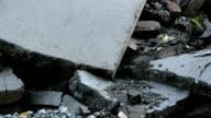 Fragments of asphalt video