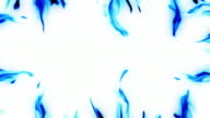 Frame Blue Flames HD video