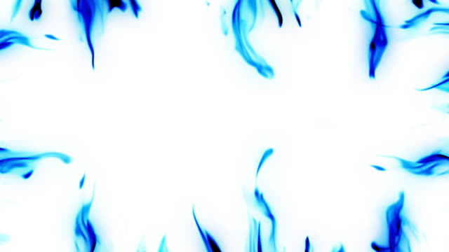 Frame Blue Flames HD video