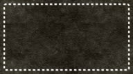 Frame Dashes Border Paper Texture Animated Dark Ashen Background video