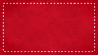 Frame Dashes Border Paper Texture Animated Red Background video