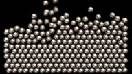 Frame fills with steel balls. video
