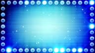 frame of blue lighting bulbs loop video