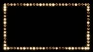 Frame of Light Bulbs for a Film Border video