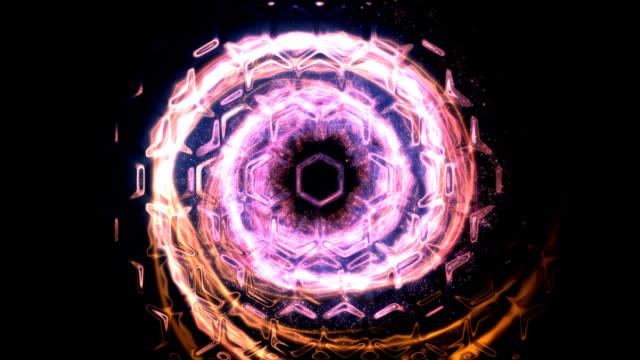 Frame of light strokes video