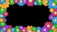 (Loop) Frame of Stylized Flowers video