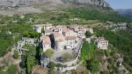 France, aerial view of Gourdon video