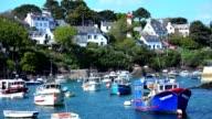 France, Brittany, Finistère (29), Clohars-Carnoët, fishing port of Doëlan video
