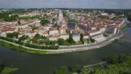 France, Charente-Maritime, Saintes, Aerial view of the St. Pierre Cathedral video