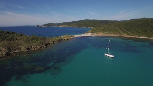 France, Cote d'azur, Cap Camarat, l'escalet video