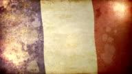 France Flag - Grunge. HD video