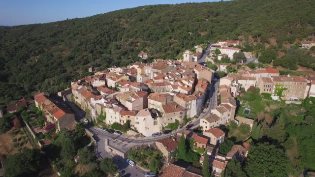 France, Provence Alpes-Cote-d'azur, Var, Aerial view of Ramatuelle video