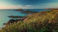 france sunset hills bay famous sea panorama 4k time lapse video