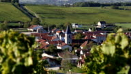 France, village of Baroville, Champagne country video