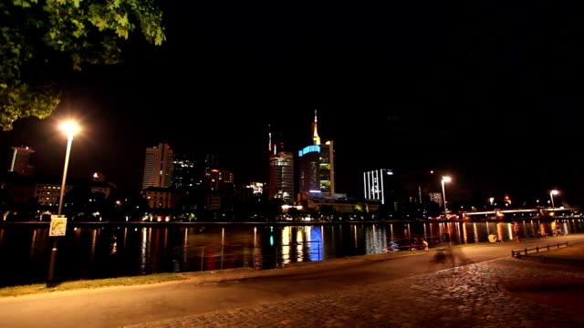 Frankfurt at night video