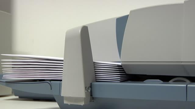 Franking machine video