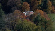 Franklin D Roosevelt National Historic Site - Aerial View - New York,  Dutchess County,  United States video