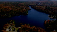 Franklin Pierce Lake  - Aerial View - New Hampshire,  Hillsborough County,  United States video